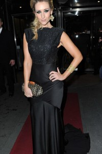 catherine wearing black dress